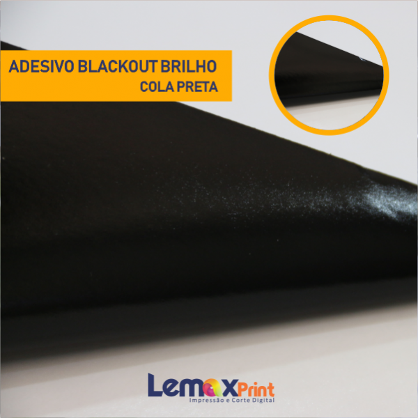 ADESIVO BLACK-OUT -BRILHO - COLA PRETA