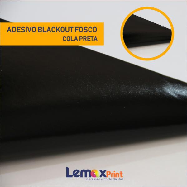 ADESIVO BLACK-OUT -FOSCO - COLA PRETA