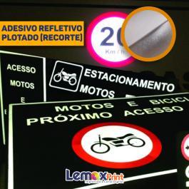 ADESIVO REFLETIVO PLOTADO (RECORTE) ADESIVO REFLETIVO PLOTADO (RECORTE)  VARIADAS