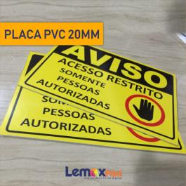 PLACA PVC 20MM PVC 20MM